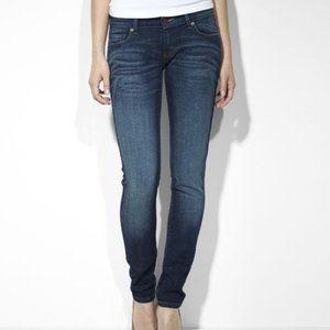 Levis 524 Dark Wash Jeans 13 M 31 Skinny Straight